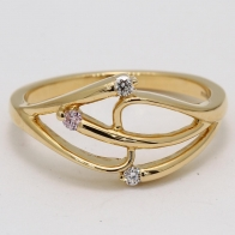 Triple Treat Argyle Pink and White Diamond Ring