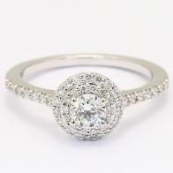 Sasha white diamond halo engagement ring
