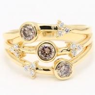 Destiny Champagne Diamond Dress Ring