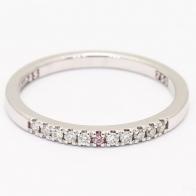 Surprise Argyle Pink and White Diamond Wedding Ring
