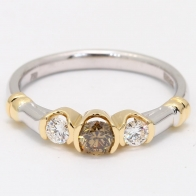 Eyre Champagne Diamond Three Stone Ring