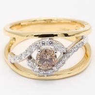 Lunar Champagne Diamond Dress Ring