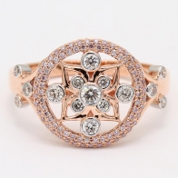Renaissance Argyle Pink Diamond Dress Ring