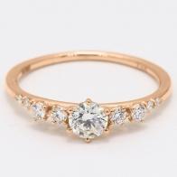 Aspen white diamond ring