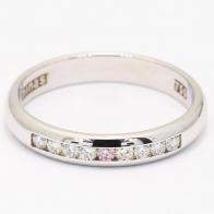 Swan Argyle Pink and White Diamond Wedding Ring