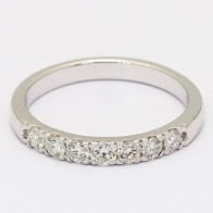 Jazz 7 Stone White Diamond Ring