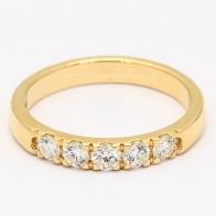 Jazz 5 Stone White Diamond Ring