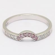 Jinora Argyle Pink and White Diamond Ring