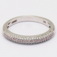 Ombre Argyle Pink And White Diamond Ring