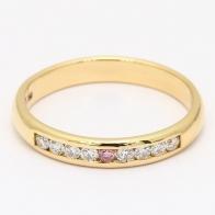 Swan Argyle Pink  White Diamond Channel Set Ring