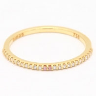 Zest Argyle Pink and White Diamond Wedding Ring