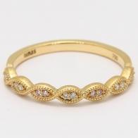 Hepburn Argyle pink and white diamond art deco ring