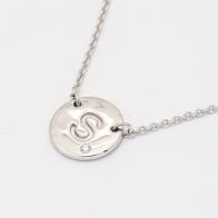 Signature White Diamond S Initial Necklace