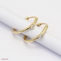 Noelle White Diamond Hoop Earrings