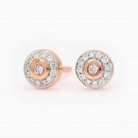 Primrose Pink Diamond Halo Stud Earrings