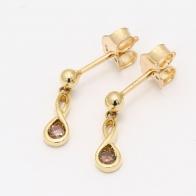 Infinite Champagne Diamond Drop Earrings