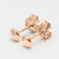 Rook white diamond stud earrings