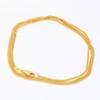 55cm 9 Karat Diamond Cut Curb Chain