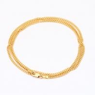60cm 9 Karat Bevelled Diamond Cut Curb Chain