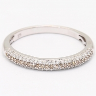 Ombre Champagne and White Diamond Stackable Ring