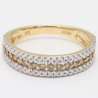 Leah Champagne Diamond Triple Accent Ring