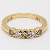Aurelia Argyle Champagne and White Diamond Ring