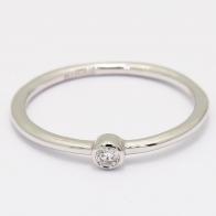 Armada white diamond bezel ring