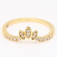 Coronet white diamond crown stackable ring