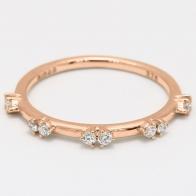 Cynthia white diamond stackable ring