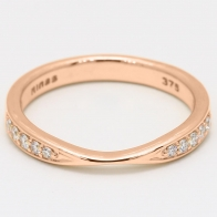 Ascot white diamond stackable ring