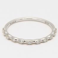 Xenna white diamond stackable ring