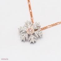 Idina Argyle Pink Diamond Snowflake Pendant