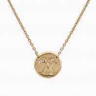 Boab Medallion Argyle Pink Diamond Necklace