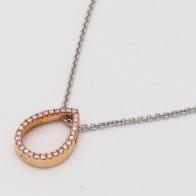 Viola .08 Carat Argyle Pink Diamond Pear Necklace