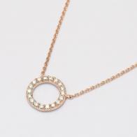 Flight white diamond circle necklace