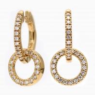 Echo White Diamond Circle Earrings