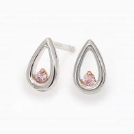 Rosa Pear Shape Argyle Pink Diamond Earrings