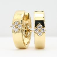 Shandi white and champagne diamond reversible hoop earrings