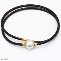 Semi Baroque South Sea Pearl Neoprene Necklace
