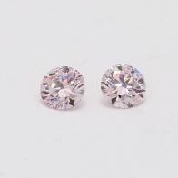 0.60 Carat Pair of Certified Argyle Pink Diamonds