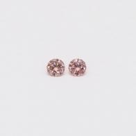 0.10 Total Carat Pair Of Argyle Pink Diamonds