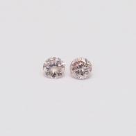 0.16 Total Carat Pair Of Argyle Pink Diamonds