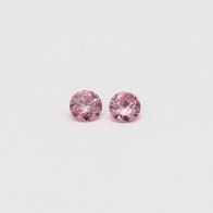0.12 Total Carat Pair Of Argyle Pink Diamonds