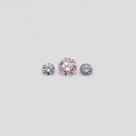0.09 Total Carat Trio Parcel of Argyle Pink and Blue Diamonds