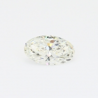 1.01 Carat oval cut GIA certified white diamond