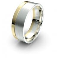 Barton Asymmetrical Debonair Infinity  Mens Ring