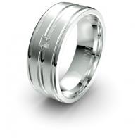 Stefan Banded Lustre Infinity Mens Diamond Ring