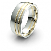 Rhett Curved Channel Debonair Infinity Mens Ring