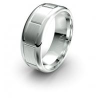 Darius Brick Etched Elements Infinity Mens Ring