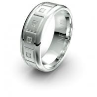 Hendricks Brick Etched Lustre Infinity Mens Diamond Ring
